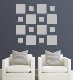 Grey Squares Väggdekal