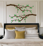 Multi-Colored Branch With Leaves Autocollant mural
