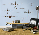 Bomber Airplanes - Brown Wall Decal