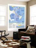 Threading The Islands Map 1986 Wall Mural by  National Geographic Maps