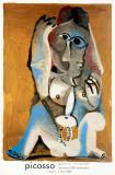 Femme Accroupie Impressão colecionável por Pablo Picasso