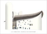 Chapel of Notre Dame du Haut, Ronchamp Posters av Le Corbusier,