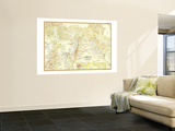 1956 Lands of the Bible Today Map Wall Mural by  National Geographic Maps
