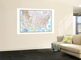 1968 United States Map Wall Mural by  National Geographic Maps