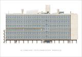 Unite d'Habitation, Marseilles Poster af Le Corbusier,