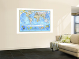 1994 World Political Map Wall Mural by  National Geographic Maps