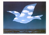 La Promesse Print by Rene Magritte