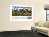 1988 High Himalaya Map Wall Mural by  National Geographic Maps