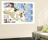 Central America Map 1986 Wall Mural by  National Geographic Maps