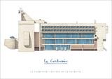 Klooster in La Tourette Print van Le Corbusier,