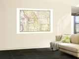 1950 Northwestern United States and Canadian Provinces Map Wall Mural by  National Geographic Maps
