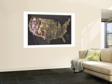 1976 Portrait USA Map Wall Mural by  National Geographic Maps