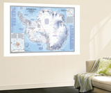 Antarctica Map 1987 Wall Mural by  National Geographic Maps