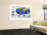 1988 Endangered Earth Map Wall Mural by  National Geographic Maps