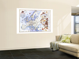 1983 History of Europe, the Major Turning Points Map Wall Mural by  National Geographic Maps