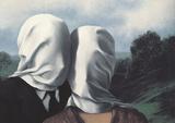 Les Amants (Lovers) Plakat av Rene Magritte