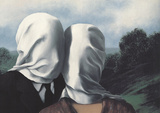 Les Amants (Lovers) Kunstdruck von Rene Magritte