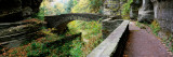 Arch Bridge in a Forest, Robert H. Treman State Park, Ithaca, Tompkins County, Finger Lakes Photographic Print