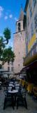 Sidewalk Cafe Near a Church, Bargemon, Var, Provence-Alpes-Cote D'Azur, France Photographic Print