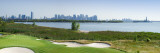 Liberty National Golf Club with Lower Manhattan And Statue of Liberty in the Background Fotografisk trykk