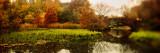 Pond in a Park, Central Park, Manhattan, New York City, New York State, USA Impressão fotográfica