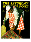"""""""Sweep it Under the Rug,"""" Saturday Evening Post Cover, May 24, 1941 ジクレープリント : ジョン・ハイド・フィリップス"""