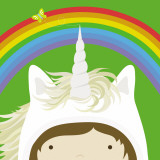 Peek-a-Boo Heroes: Unicorn Prints by Yuko Lau