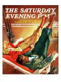 """""""Apres Ski,"""" Saturday Evening Post Cover, February 22, 1941 Lámina giclée por Ski Weld"""