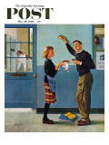 """Cookie Tester,"" Saturday Evening Post Cover, May 28, 1960 Giclée-vedos tekijänä George Hughes"