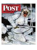 """Ski Patrol Soldier,"" Saturday Evening Post Cover, March 27, 1943 Gicléetryck av Mead Schaeffer"
