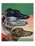"""""""Greyhounds,"""" March 29, 1941 Reproduction procédé giclée par Paul Bransom"""