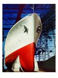 """Dry Dock,"" July 5, 1941 Giclee Print by Arthur C. Radebaugh"
