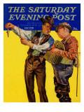 """Not a Keeper,"" Saturday Evening Post Cover, June 7, 1941 Giclee Print by Rauschert J. Karl"