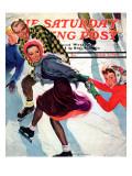 """Crack the Whip"", Saturday Evening Post Cover, March 2, 1940 Reproduction procédé giclée par Emery Clarke"