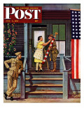 """Two Generations of Vets,"" Saturday Evening Post Cover, July 5, 1947 Gicléedruk van Stevan Dohanos"