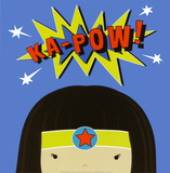 Peek-a-Boo Heroes: Supergirl Poster by Yuko Lau