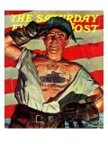 """Tank Tattoo,"" Saturday Evening Post Cover, November 8, 1941 Giclee Print by Howard Scott"