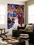 Miami Heat v Dallas Mavericks - Game Three, Dallas, TX -June 5: LeBron James and Ian Mahinmi Wall Mural by Victor Baldizon