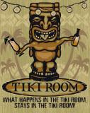 Tiki Plaque en métal