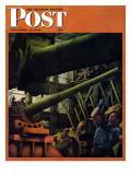 """Gun Factory,"" Saturday Evening Post Cover, November 18, 1944 Giclee Print by Robert Riggs"
