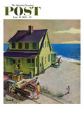 """""""Fathers Off Fishing,"""" Saturday Evening Post Cover, June 18, 1960 ジクレープリント : ソーントン・ウッツ"""
