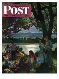 """Evening Picnic "" Saturday Evening Post Cover  June 4  1949"