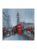 Red Bus, London Giclee Print by Geoff King