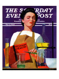 """""""Freshmen Chemistry,"""" Saturday Evening Post Cover, May 4, 1940 Giclee Print by John Hyde Phillips"""