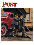 """Speck of Coal,"" Saturday Evening Post Cover, October 18, 1947 Giclée-vedos tekijänä Stevan Dohanos"