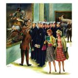 """Girl-Watching Sailors,"" August 12, 1961 Giclée-tryk af Constantin Alajalov"