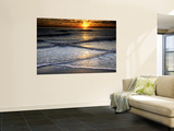 Sunset Reflection on Beach, Cape May, New Jersey, USA Wall Mural by Jay O'brien