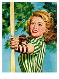 """Woman Archer,"" July 22, 1944 Lámina giclée por Alex Ross"