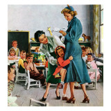 """""""Separation Anxiety,"""" September 11, 1948 Giclee Print by George Hughes"""