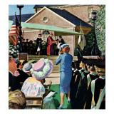 """College Graduation,"" June 4, 1960 Gicléetryck av Thornton Utz"